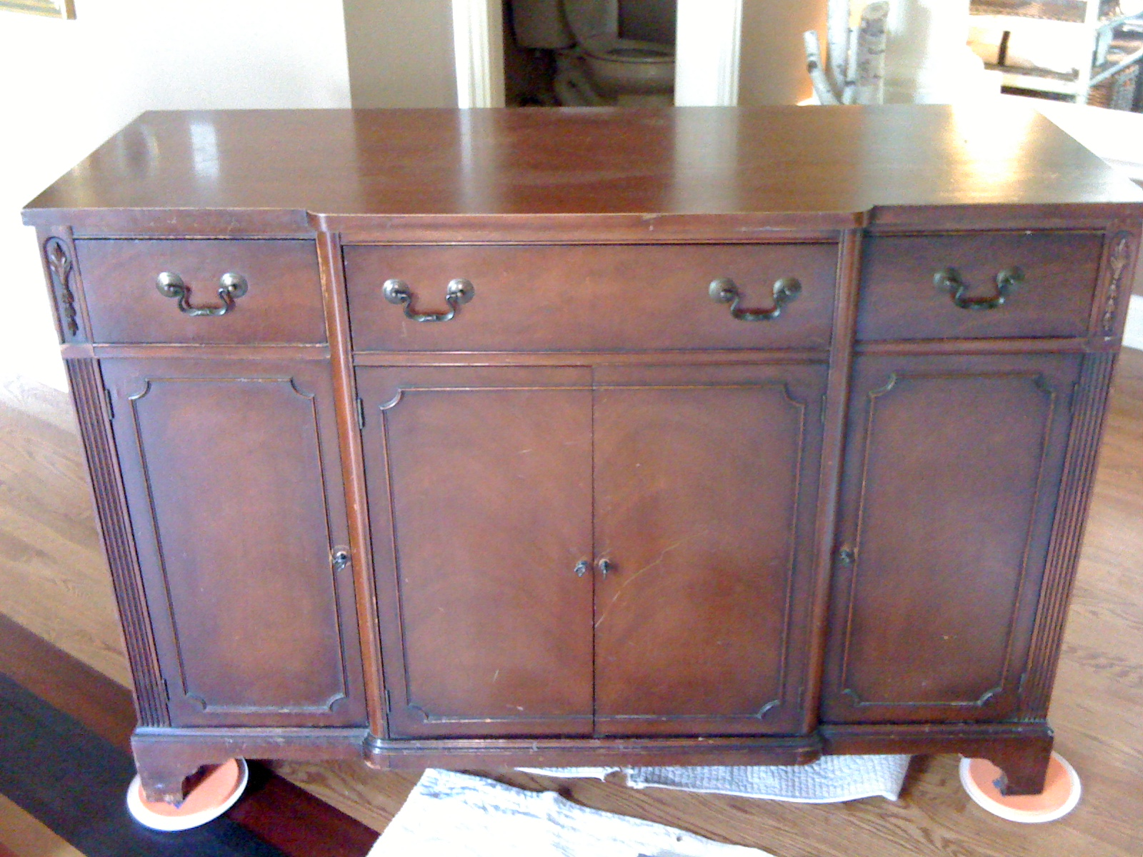 Painted buffet table furniture - Grandma S Dining Room Buffet